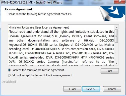 cài đặt phần mềm ivms4200